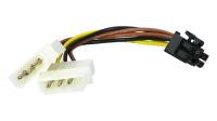 Cabo adaptador 2 x Molex a PCI-E 6