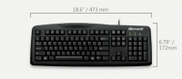 Wired Keyboard 200 Business USB PT - Preto