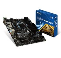 B250M PRO VDH - Intel B250, LGA1151, DDR4(Dual Channel), microATX