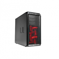 GraphiteSeries 230T BLACK WITH RED LED, SOLID SIDE PANEL