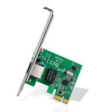 32-bit Gigabit PCIe Network Adapter, Realtek RTL8168B, 10/100/1000Mbps Auto-Negotiation RJ45 port, Auto MDI/MDIX