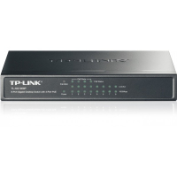 8-Port Gigabit Desktop PoE Switch, 8 10/100/1000Mbps RJ45 ports including 4 PoE ports, steel case
