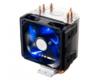 Hyper 103, exclusive X-vent and Air Guide tecnology that optimize air flow towards heatpipes and ultimatly reduce CPU temps, 3 direct heatpipe, 92mm PWM Blue Led Fan,. Suports Intel® LGA 2011/1366/1156/1155/1150/775 and AMD FM2/FM1/AM3+/AM3 /AM2