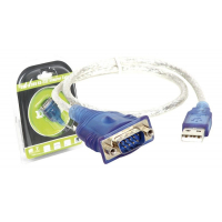 Cabo adaptador USB a RS232 DB9 Macho 0.45m