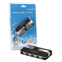 EXTERNE USB 2.0 HUB WITH 7X USB 2.0 PORTS INCL. POWER ADAPTER