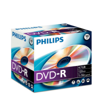 DVD-R Philips 4.7GB 16X Jewell Case 10