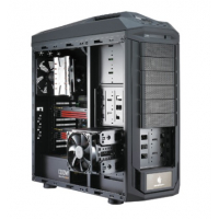 CM Storm Trooper, Two front 120 mm red LED fans provide superior HDD/SSD cooling, Top 200mm fan, Two 90 degree removable and rotatable 4-in-3 HDD cages, 9+1 expansion Slots, 13 5 1/4 bays, Transparent side panel included