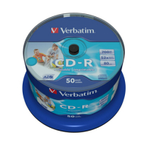 CD-R Verbatim 52x - 700 MB Spindle 50 Printable