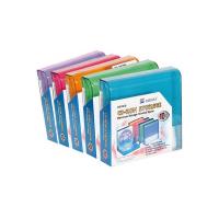 Arquivador CD/DVD em plástico com 10 bolsas individuais felpo