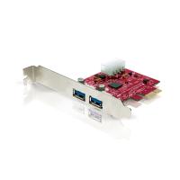 Placa PCI Express com 2 portas USB 3.0 externas e uma porta USB de energia
