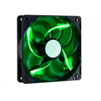 Sickle Flow 120mm Green LED Fan, 2000rpm, 69,69 CFM, Long-Life Sleeve, 50.000H