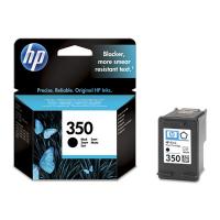 HP 350 Black Inkjet Print Cartridge with Vivera Ink