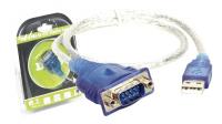 Cabo adaptador USB a RS232 DB9 Macho 0.45m