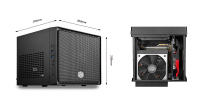 Elite 110, Mini-ITX, Dual Super Speed USB 3.0, Supports a 120mm radiator in the front, ATX PSU up to 180mm, graphic card length up to 210mm, up to 3 HDDs / 4 SSDs - Sem Fonte