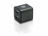 4-ports Cube USB 2.0 Hub - Cinza