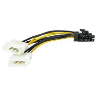 Cabo adaptador 2 x Molex a PCI-E 8