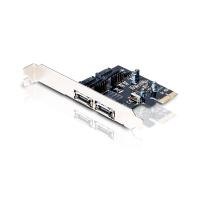 PCI Express Card SATA-3 - 2x eSATA externas e 2x SATA internas para PC
