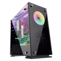 CAIXA MATX GAMER SLAYER RX5 1XUSB3.0+2XUSB2.0 3XFAN120 RGB
